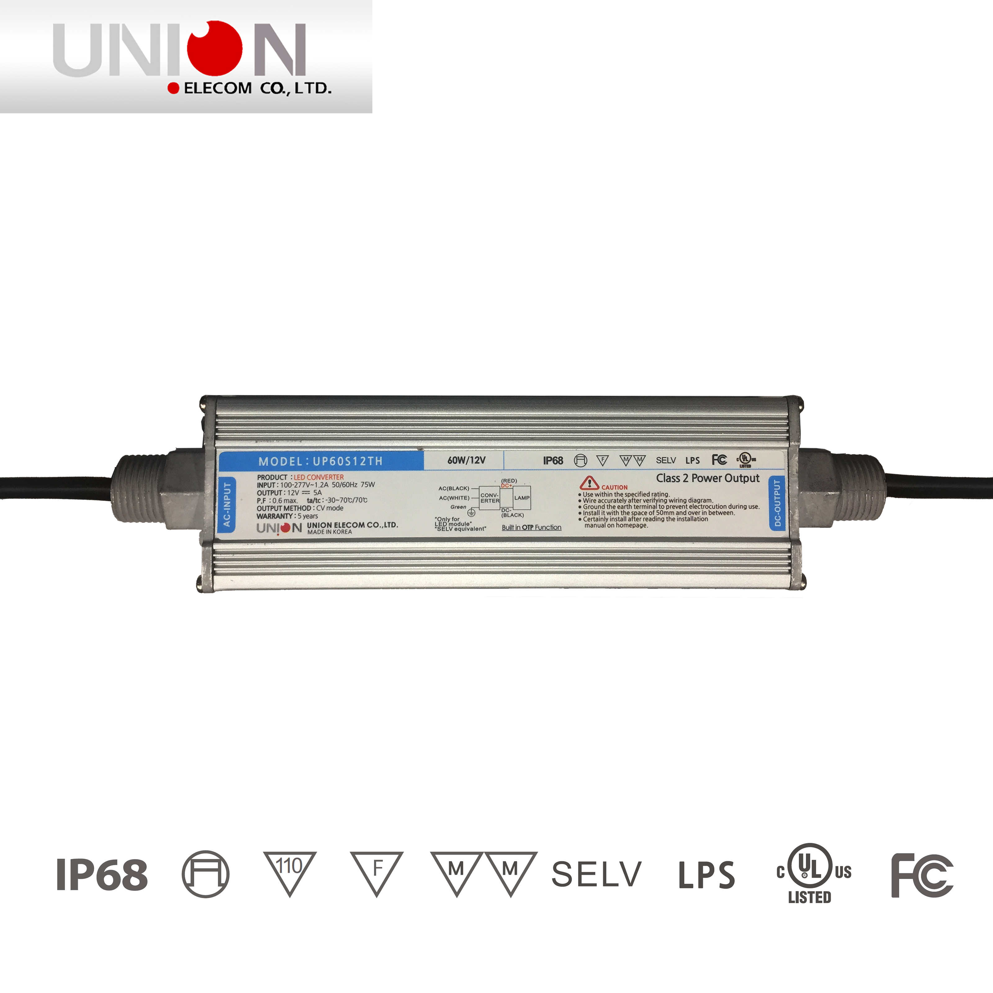 Union 60w Outdoor Led Converter Up60s12th Abitech Module Wiring Diagram