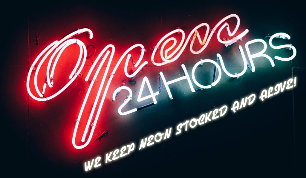 large neon inventory in stock